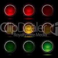 traffic light buttons