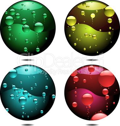 Kreise mit Bläschen