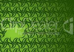 green wallpaper hole