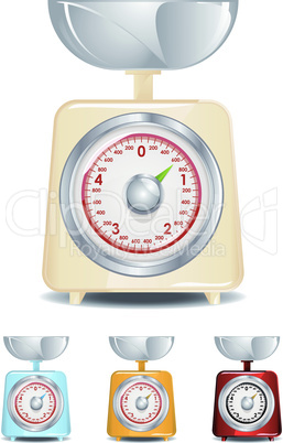 Retro Kitchen Scale