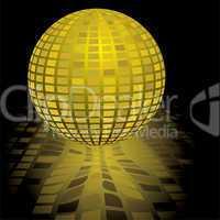 disco ball gold