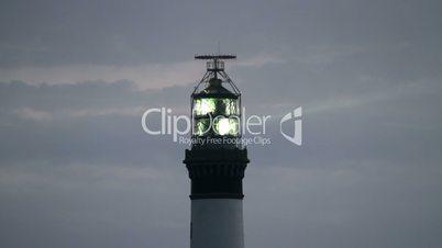 powerful lighthouse at dusk