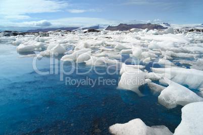 Melting Icebergs At Jokulsarlon Lagoon