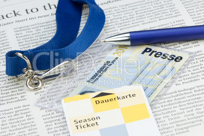 Presseausweis Press card