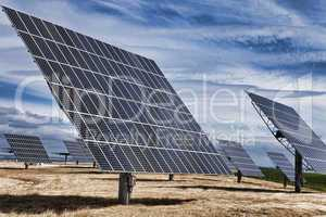 HDR Photograph of Green Energy Photovoltaic Solar Panels