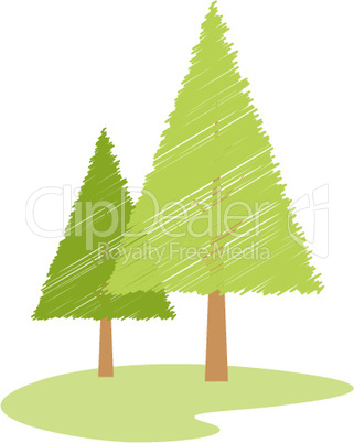 vector tree on isolated background