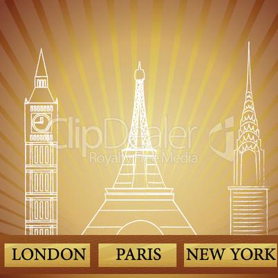 Architektur London/Paris/NewYork