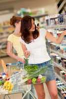 Shopping series - Beautiful brunette in a supermarket