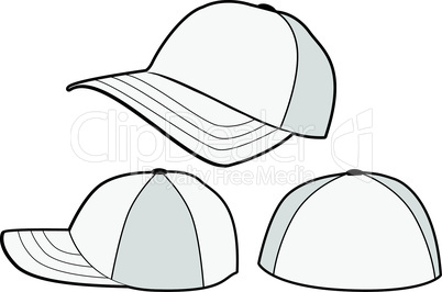 Baseball hat or cap vector template.