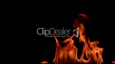 Fire flame. 8х slow motion