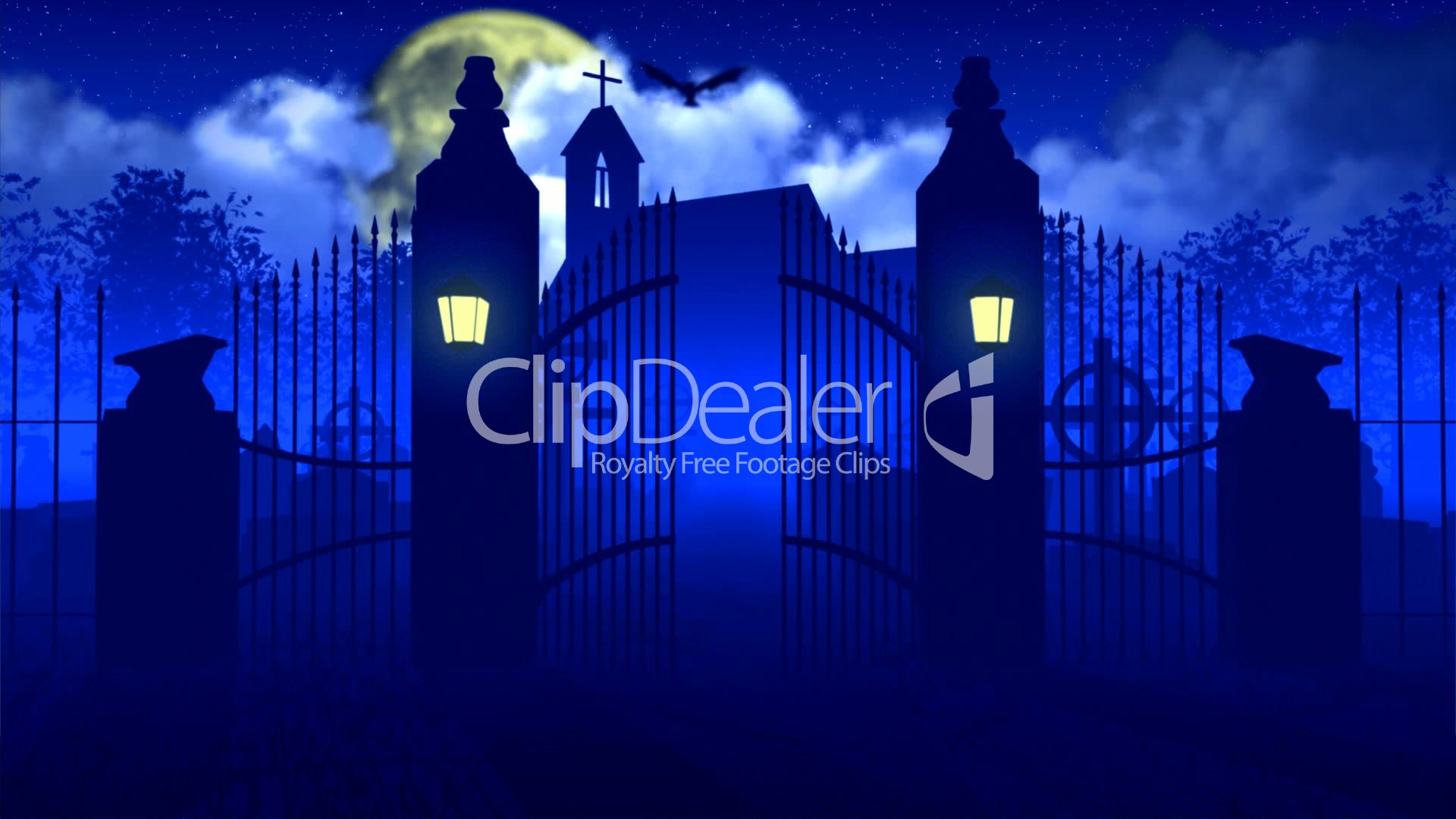 Reaper leaves from of cemetary: Royalty-free video and stock