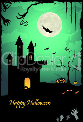 illustration of halloween template