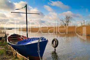 Boot am Achterwasser