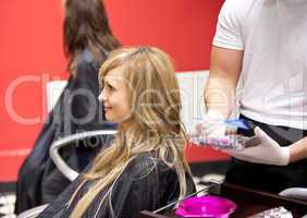 woman in a hairdressing salon
