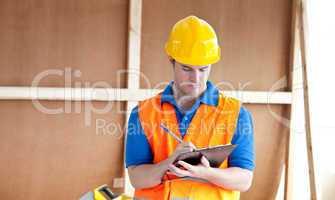 Self-assured male worker