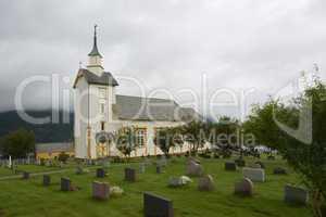Churchyard in green grass