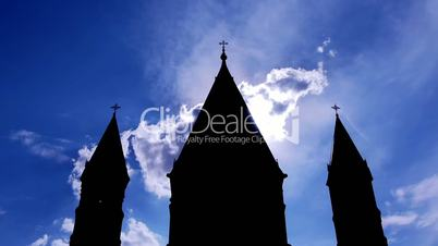 Church Clouds Dome