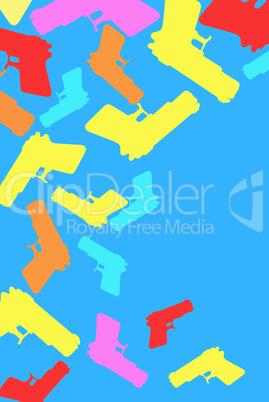 Spritzpistolen sommerlich, der Freizeitspass