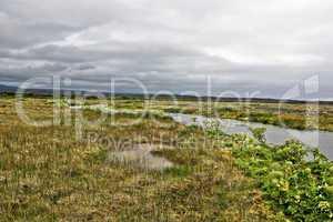 Iceland moor landscape