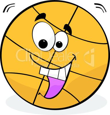 Basketball mit Gesicht