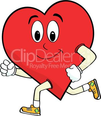 Laufendes Herz