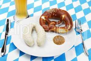 bayrisches frühstück von oben