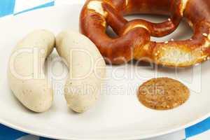 weisswurstfrühstück nah von oben
