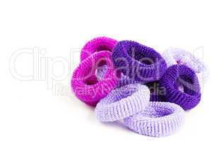 lila haargummis