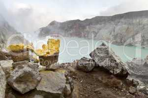 Sulfur from Ijen Crater