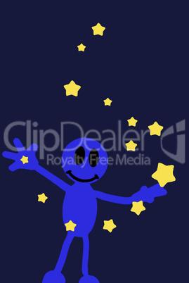 Sternenzauber oder Blaumännchen als Sterntaler