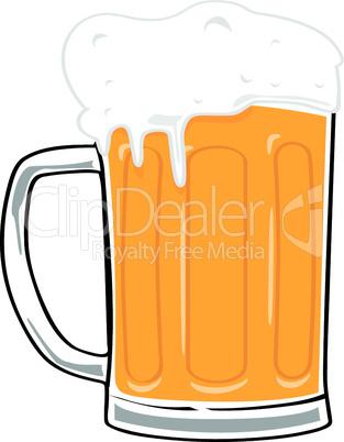 Bier im Glaskrug