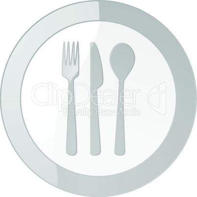 Teller mit Besteck
