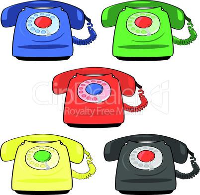 Altmodische Telefone