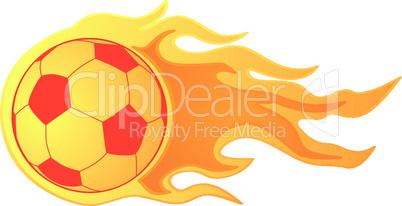 Flammender Fußball