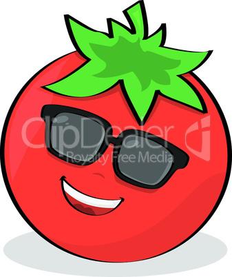 Tomate mit Gesicht