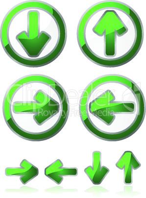Grüne Pfeile