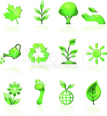 Umweltschutz Symbole