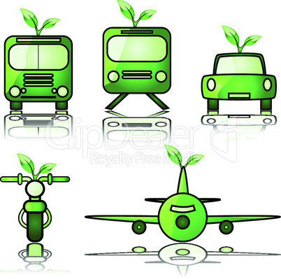 Grüne Fahrzeuge