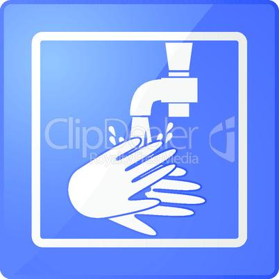 Symbol Händewaschen