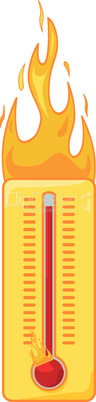 Brennendes Thermometer