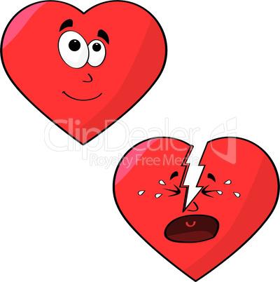 Herzen mit Gesicht