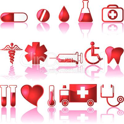 Medizin Symbole