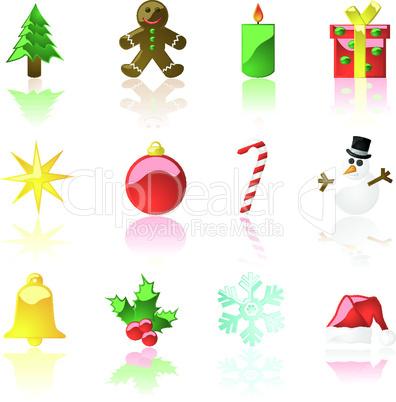 Weihnachtliche Icons