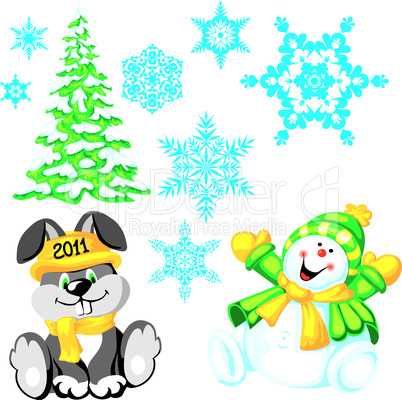 New Year design elements