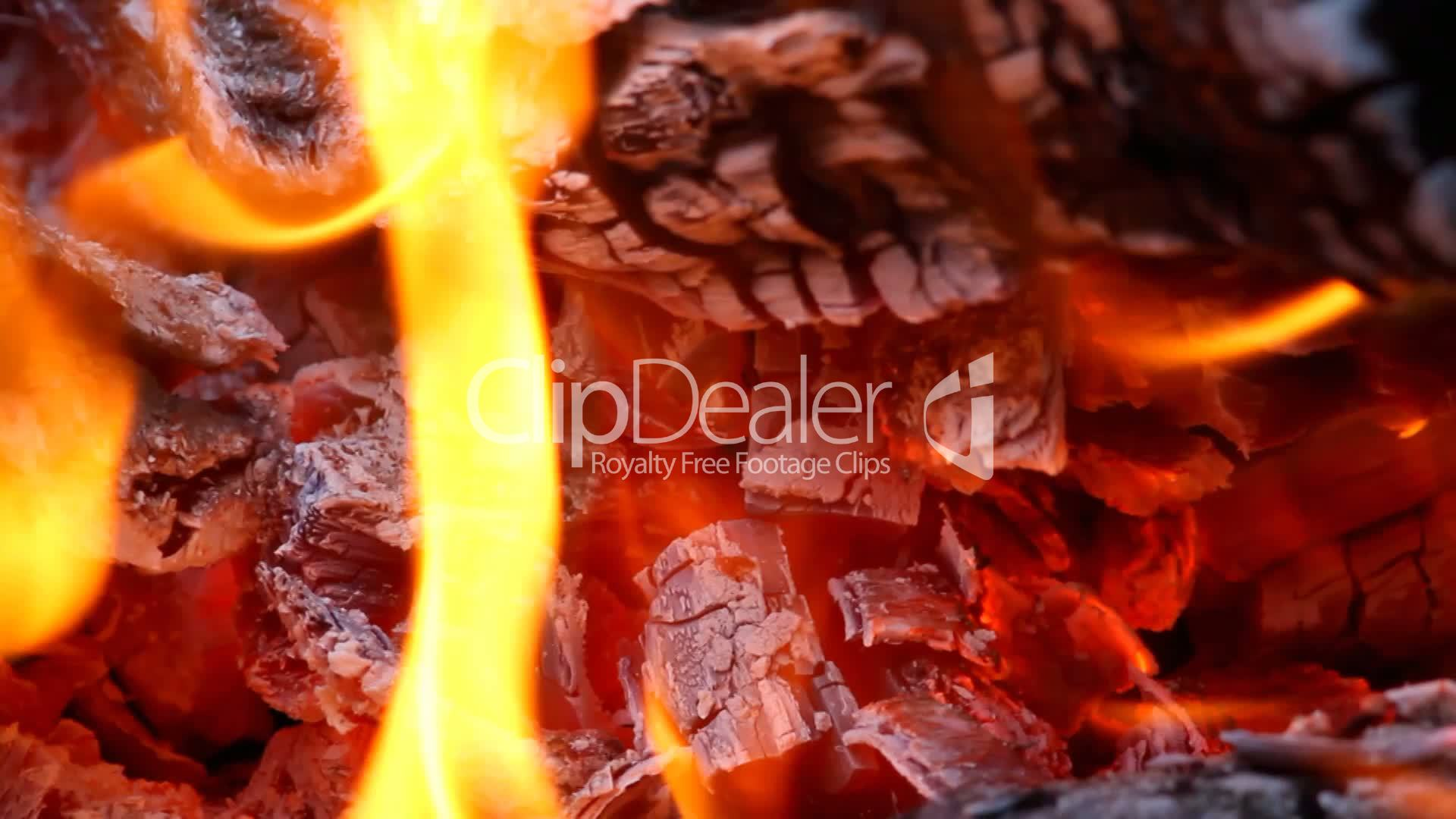 fire burning in the fireplace full hd royalty free video and