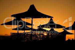 sunset on sea resort