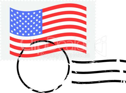 Amerikanische Briefmarke