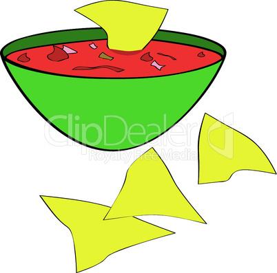 Tortillachips mit Dip