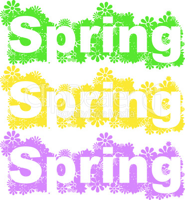 Schriftzug Spring