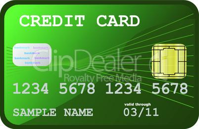 Grüne Kreditkarte